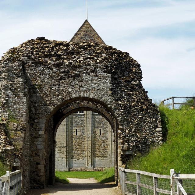 """Gatehouse, Castle Rising"" stock image"