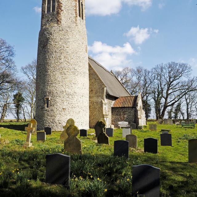 """""""Edingthorpe Church 1"""" stock image"""