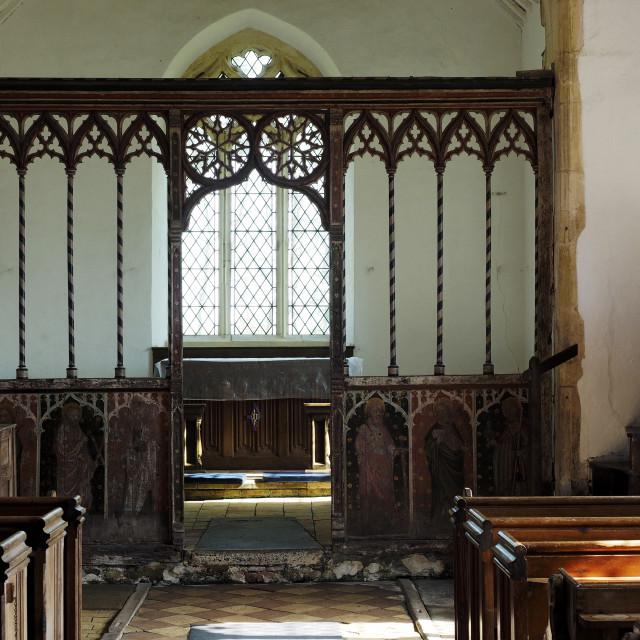 """""""Edingthorpe Church 8"""" stock image"""