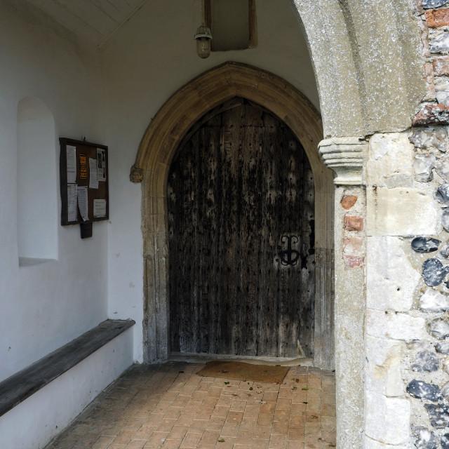 """""""Edingthorpe Church 2"""" stock image"""