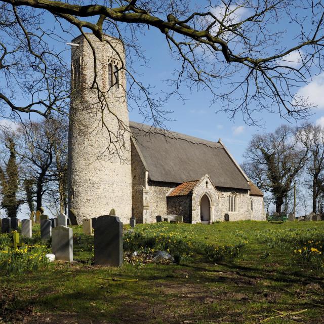 """""""Edingthorpe Church 12"""" stock image"""