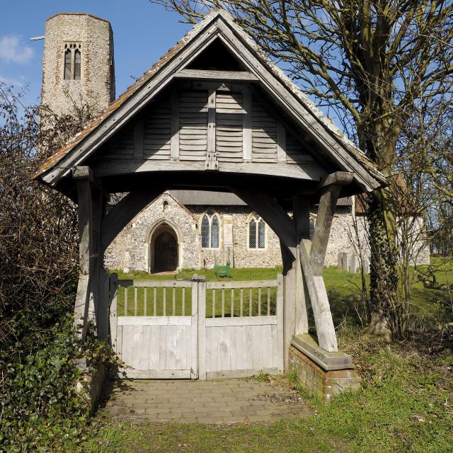 """""""Edingthorpe Church 10"""" stock image"""