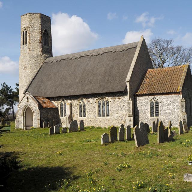 """""""Edingthorpe Church 9"""" stock image"""