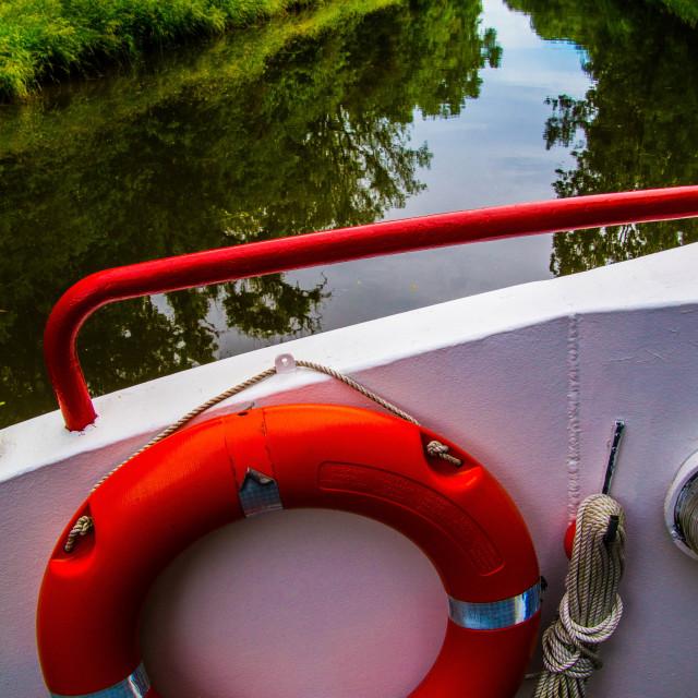 """""""waterway of digoin -roanne,briennon,loire,france"""" stock image"""