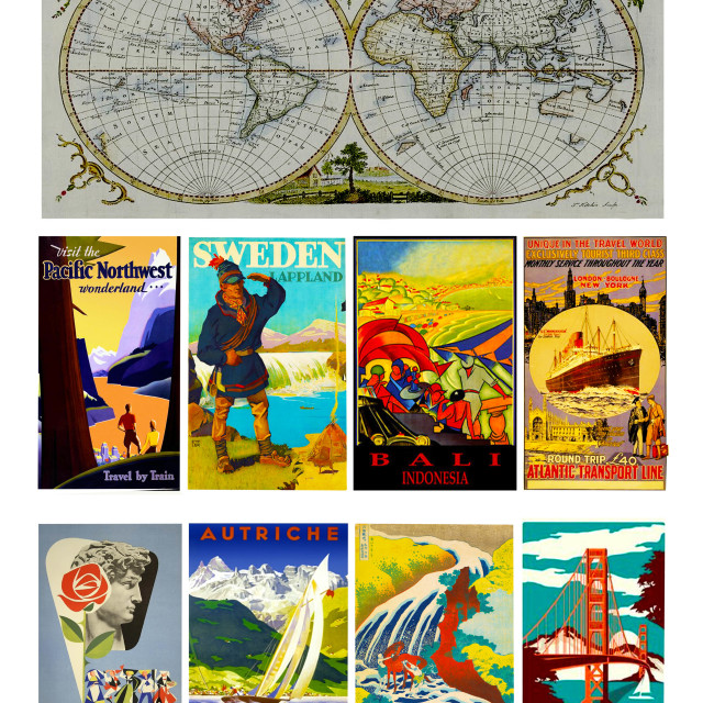 """""""Travel Poster"""" stock image"""