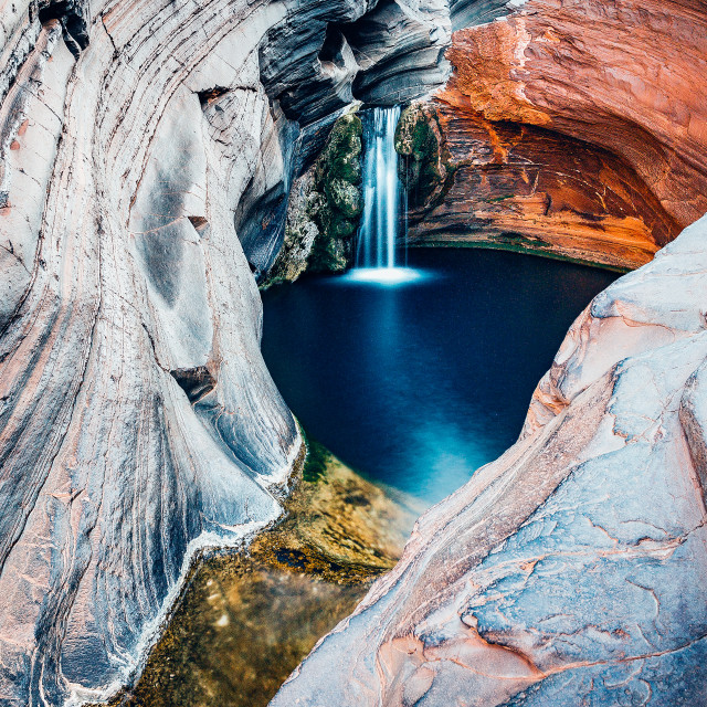 """Hamersley Gorge, Spa Pool, Karijini, Australia"" stock image"