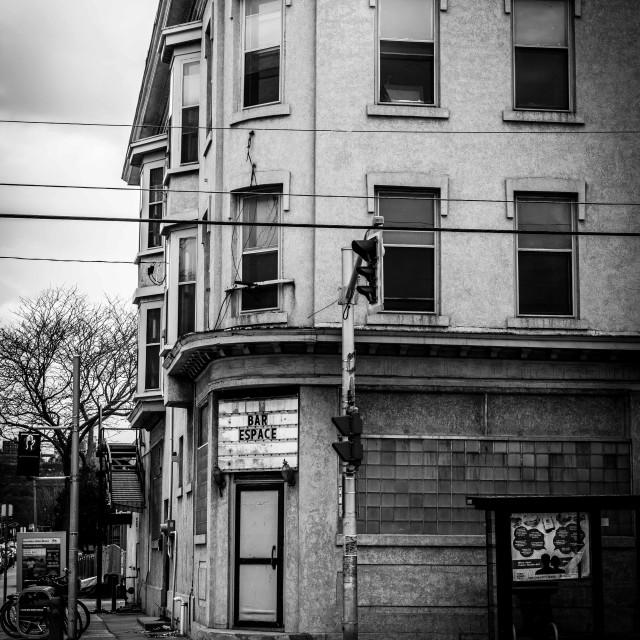 """""""Abandoned bar dreams"""" stock image"""