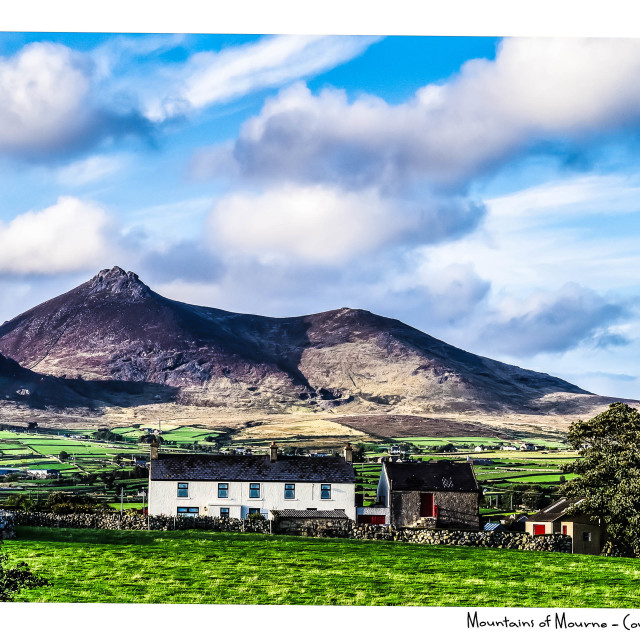 """""""Mountains of Mourne"""" stock image"""