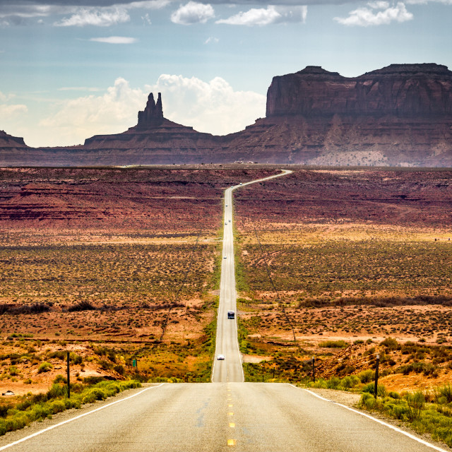 """""""Highway to the Monument Valley"""" stock image"""