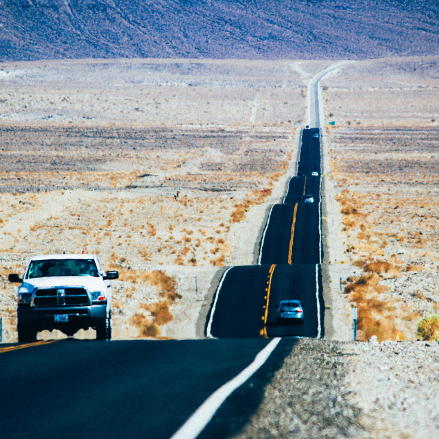 """""""Death Valley Highway road"""" stock image"""
