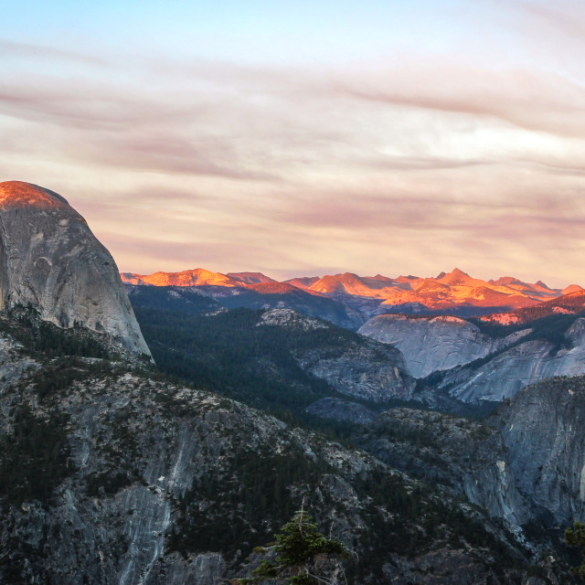 """""""Sunset from Glacier Point, Yosemite"""" stock image"""