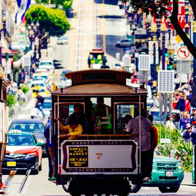 """San Francisco Cable Car"" stock image"
