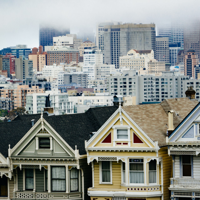 """Painted Ladies, San Francisco"" stock image"