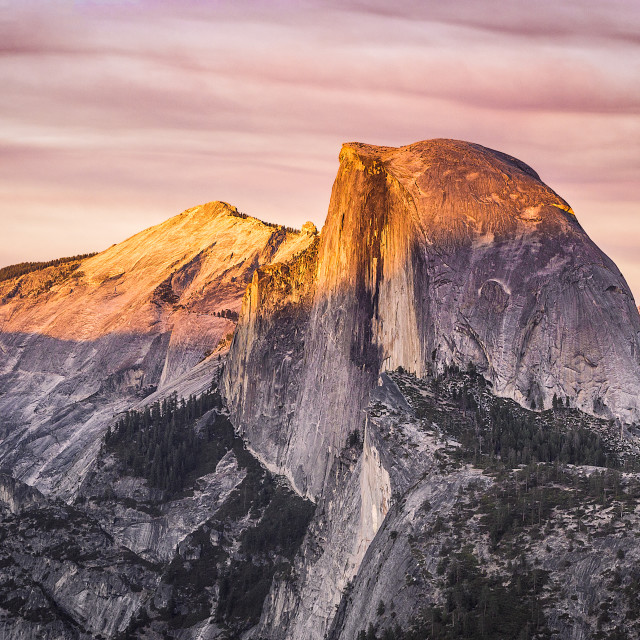 """Sunset from Glacier Point, Yosemite"" stock image"
