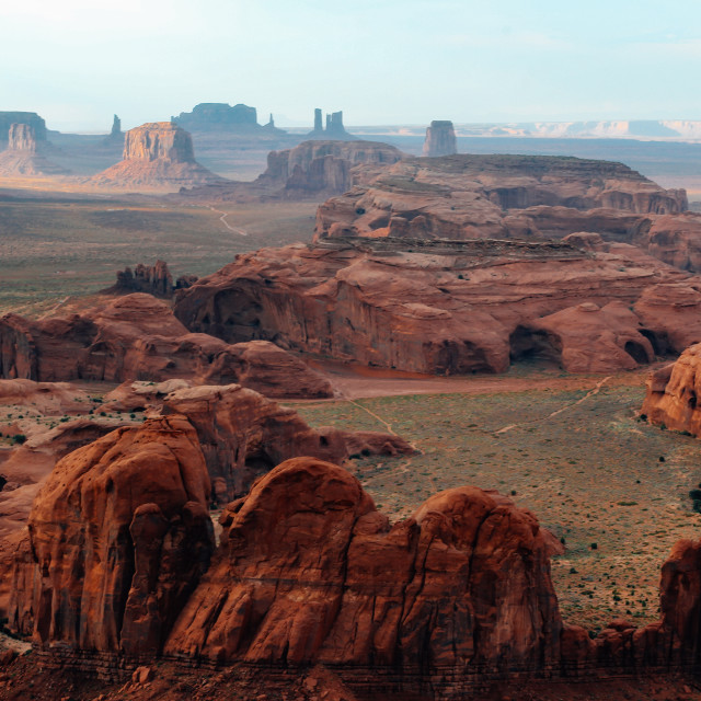 """""""The Hunt's Mesa, Monument Valley"""" stock image"""