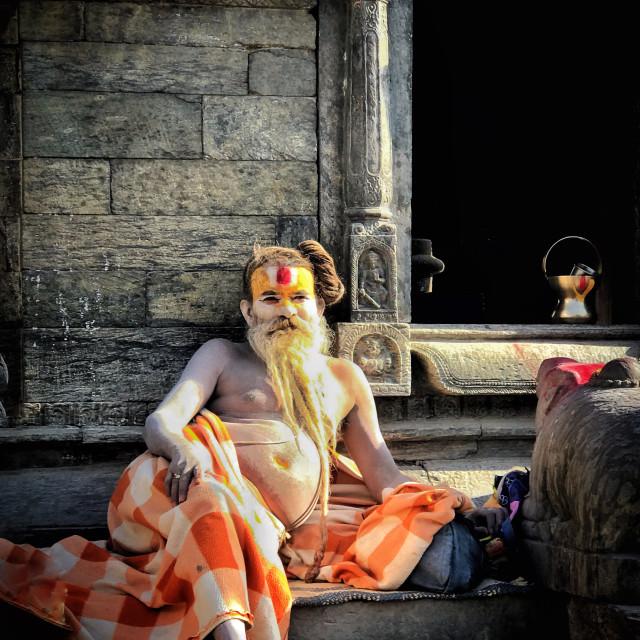 """""""Hindu Devotee"""" stock image"""