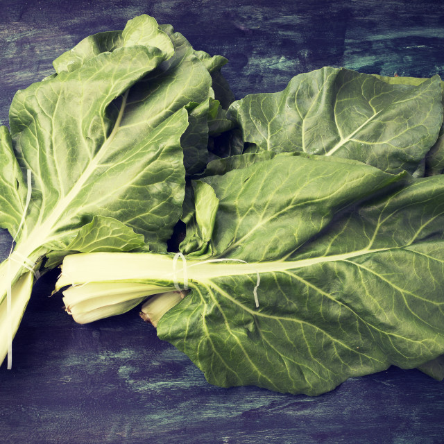 """""""Fresh organic mangold"""" stock image"""