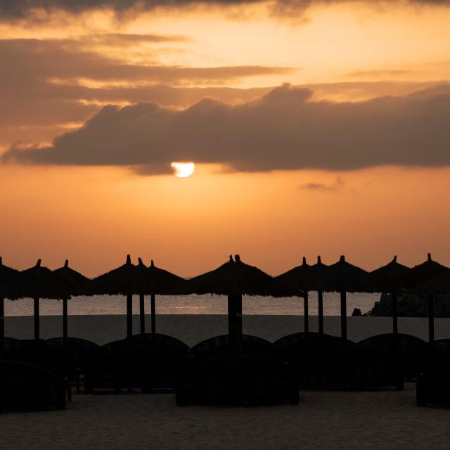 """Beach Sunset"" stock image"