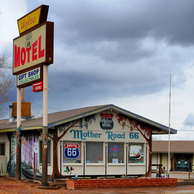 """Clouds over the Motel"" stock image"