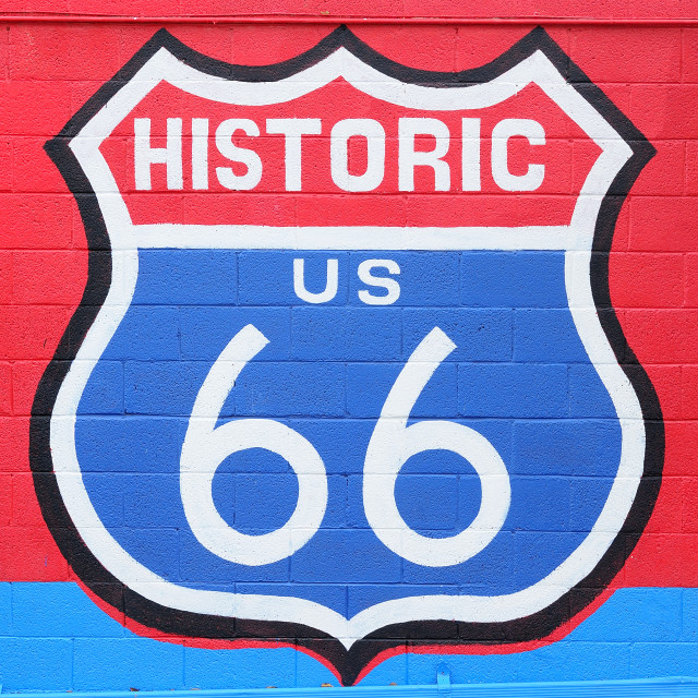 """Route 66"" stock image"