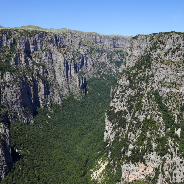 """Vikos gorge landscape Zagoria Greece summer season"" stock image"
