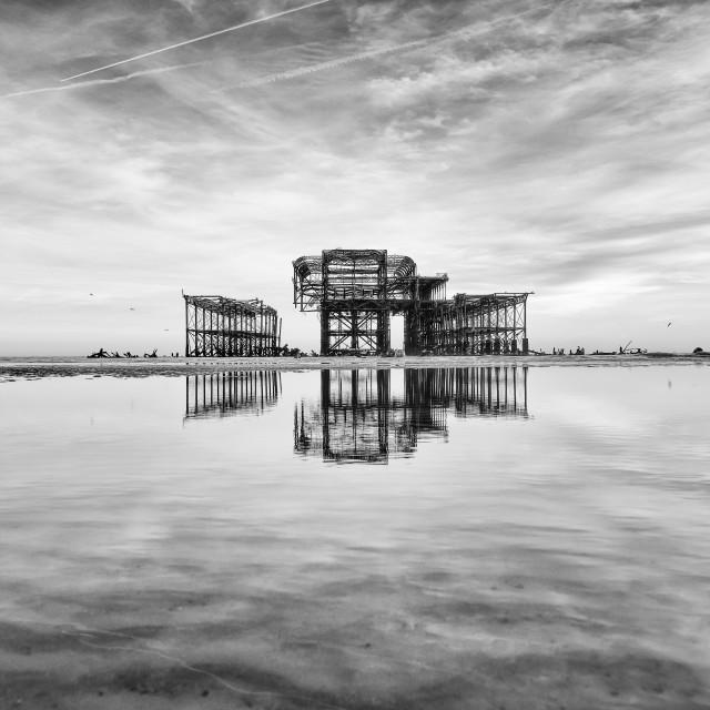 """West Pier On The Horizon"" stock image"