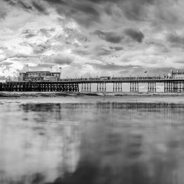 """""""Storm Over Worthing Pier"""" stock image"""
