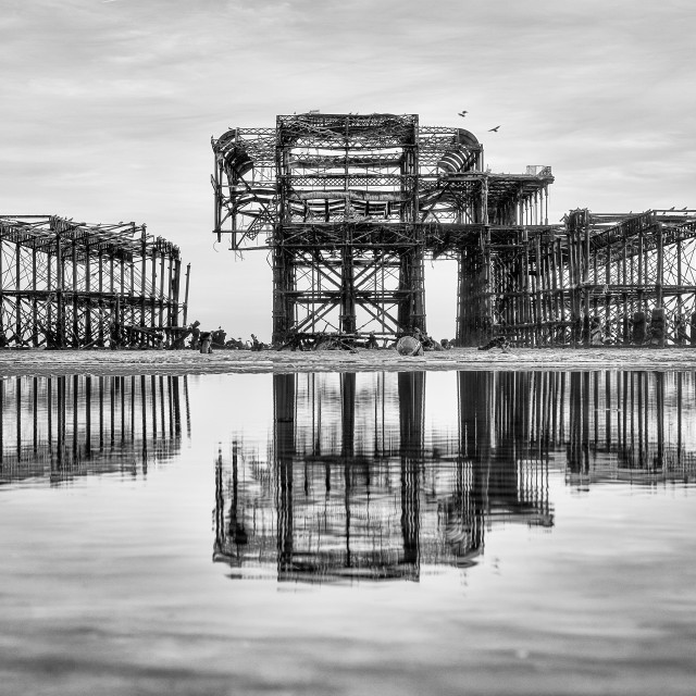 """""""West Pier Structure"""" stock image"""