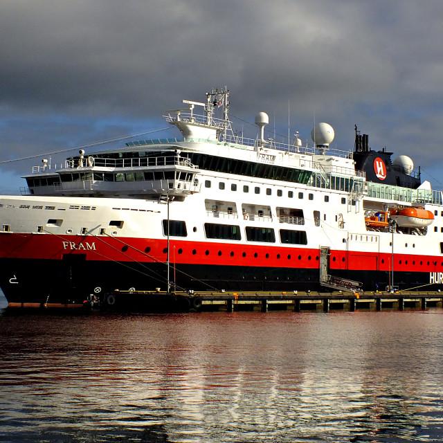 """Hurtigruten Cruise Ship Fram"" stock image"