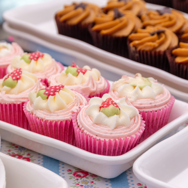"""Strawberry Cupcakes"" stock image"