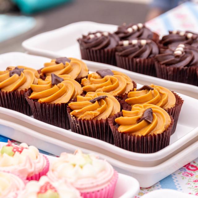 """Variety of cupcakes"" stock image"