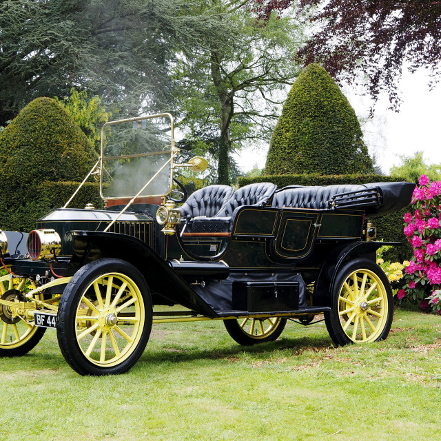 """Stanley Steam Car 1"" stock image"