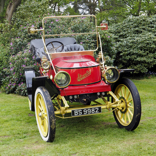 """Stanley Steam Car 2"" stock image"