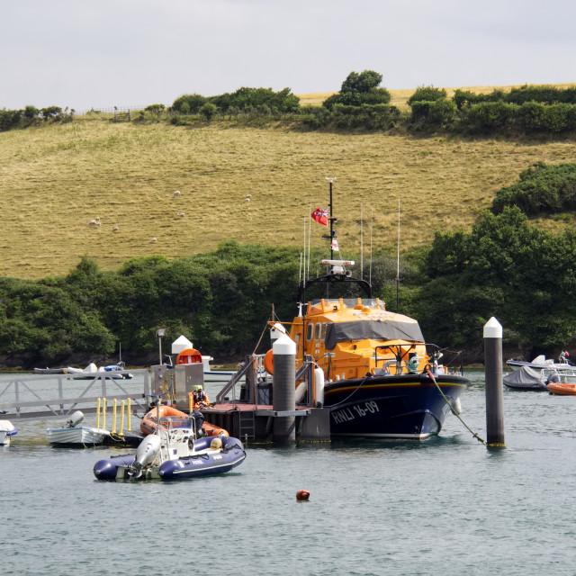 """Salcombe Lifeboat"" stock image"