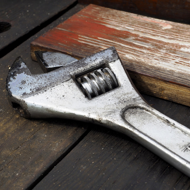 """Adjustable wrench"" stock image"