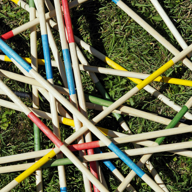 """Pick up Sticks"" stock image"