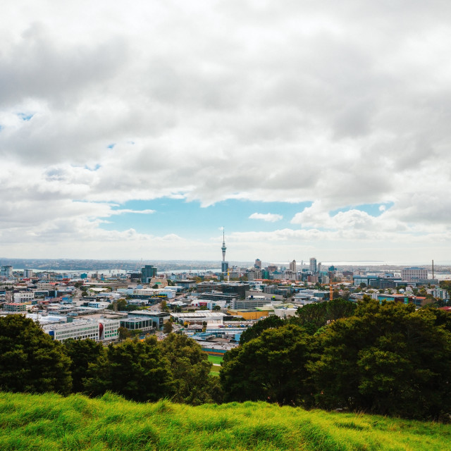 """""""Auckland view from Mt Eden"""" stock image"""