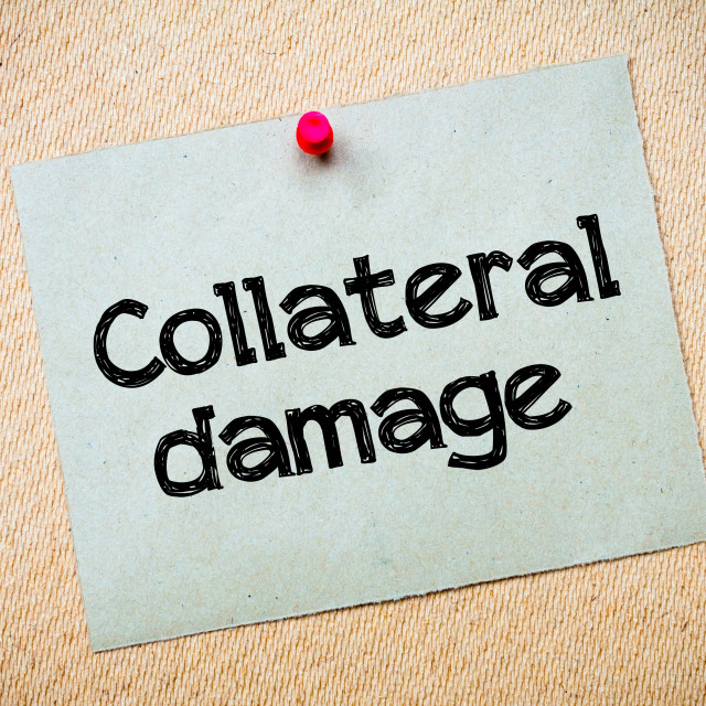 """""""Collateral Damage"""" stock image"""