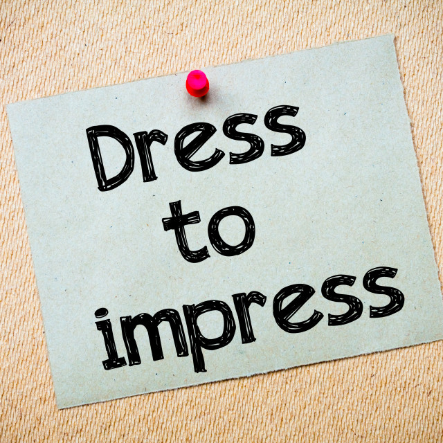 """Dress to impress"" stock image"