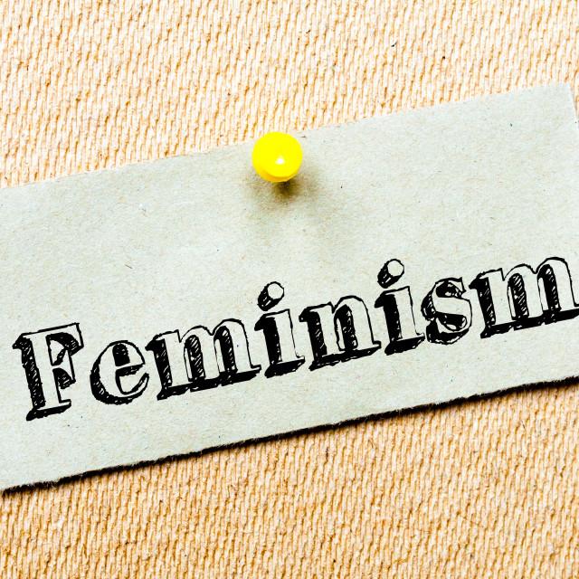 """Feminism Message"" stock image"