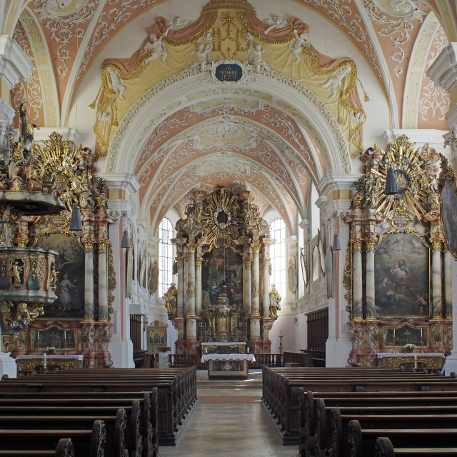 """Mindelheim Jesuit Church 1"" stock image"