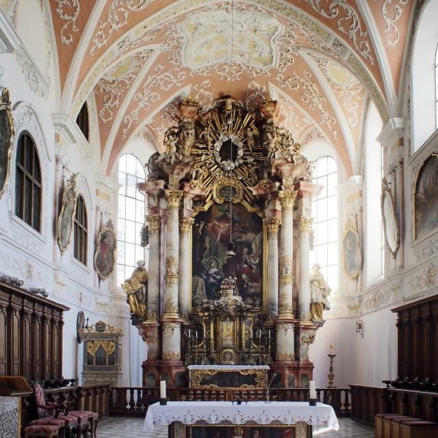 """Mindelheim Jesuit Church 2"" stock image"