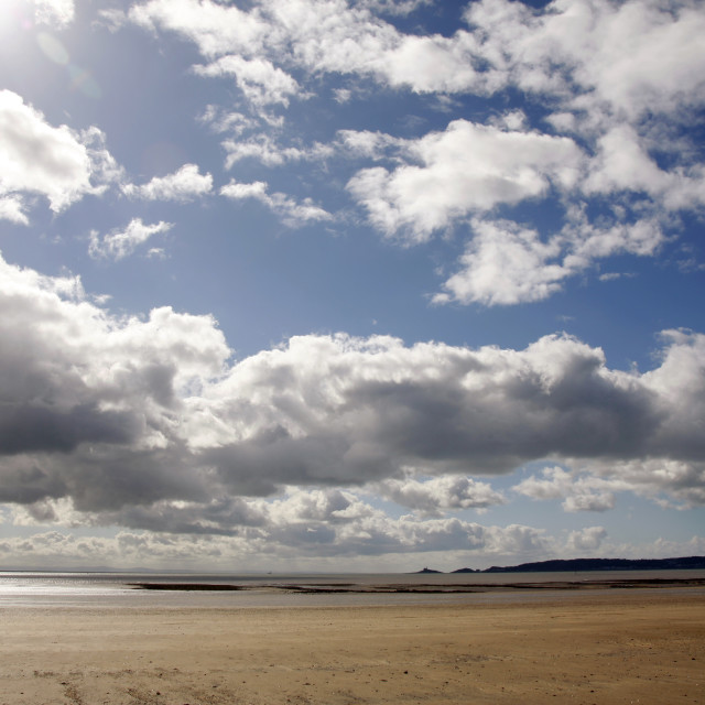 """Swansea beach and sky"" stock image"