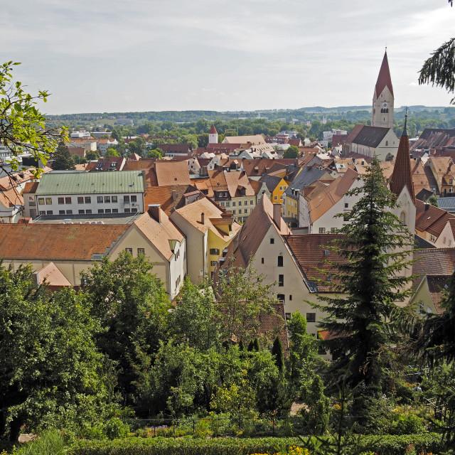 """""""View across Kaufbeuren"""" stock image"""