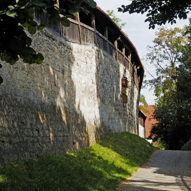 """""""Kaufbeuren town walls"""" stock image"""