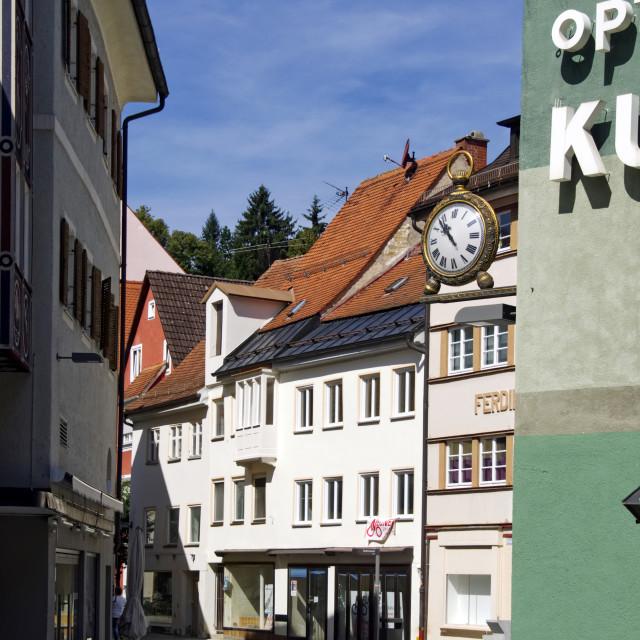 """Kaufbeuren street scene"" stock image"