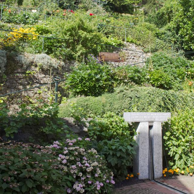 """""""Monastery gardens, Kaufbeuren"""" stock image"""