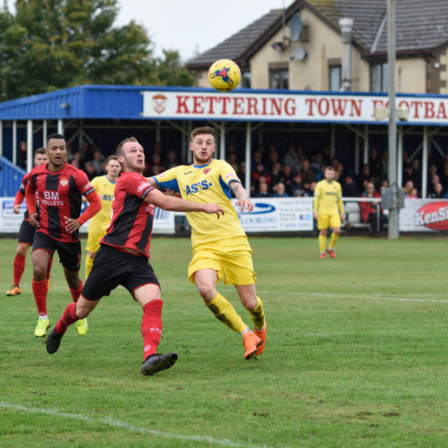 """""""FA Cup: Kettering Town vs AFC Mansfield,UK."""" stock image"""