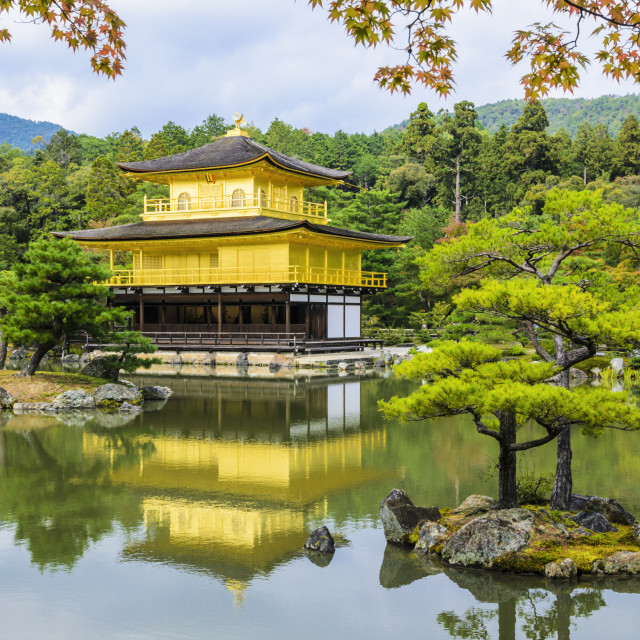 """The Golden Pavilion in Kyoto"" stock image"
