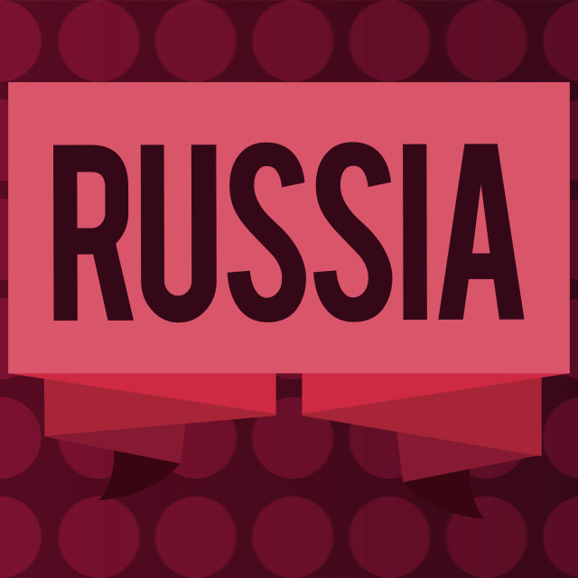 """""""Word writing text Russia. Business concept for worlds largest nation borders..."""" stock image"""